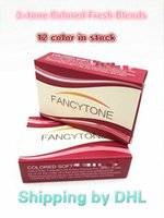 Wholesale Blister Packaging Case - Free Shipping By DHL Fancytone Fresh 3-tone PP blister contact lens case Color Contact Lens package box