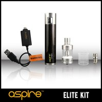 Wholesale Maxx E Cig - FREE SHIPPING Aspire ELITE Kit Vapor Cigarette CF Maxx 50W Vape Mods E Cig Batteries Aspire Atlantis Mega Tank 5ML Protank E-cigarette Kit