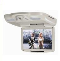 mini tv chinês venda por atacado-12,1 '' Flip down Car DVD / Monitor com USB / SD / IR / Transmissor FM / Wireless jogo