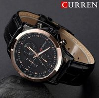 dropshipping mens gold watch straps uk uk delivery on mens brand curren mens watches luxury gold leather strap analog display quartz wrist watch fashion sport watches relogio masculino dropshipping uk