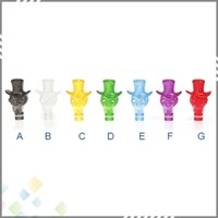 Wholesale Dct Cartomizers - Plastic Skull Drip Tip Skull Mouthpiece EGO Atomizer Mouthpiece for Vivi Nova 510 DCT Cartomizers Cristal skull drip tip DHL Free