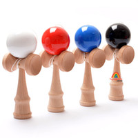Wholesale Cheap Wood Rounds - Fashion Jumbo Kendama Ball Cheap 5pcs Spring Children Toys Japanese Wood Education Game 18*6*7cm Round Sports Ball Game Toys Different Color