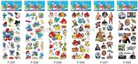 Wholesale Notebook Pvc Skin - Kids Stickers Cartoon Notebook skins Party supplies classic Toys for children wholesale free shipping