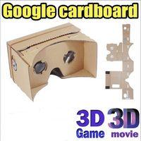 3d lg projektör toptan satış-Toptan DIY Google Karton VR Sanal Gerçeklik 3D Gözlük Fırtına Ayna DIY Kiti iphone 6 6 artı 5 5 s 4 samsung s6 kenar