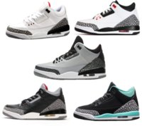Wholesale Basketball Shoes - retro 3 white black cement infrared 23 wolf grey basketball shoes sneakers for men women 2016 Good Quality Version US size 5.5-13