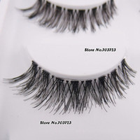 Wholesale Clear Eyelash Band - Wholesale-5 Pairs Fashion Super Thick Black False Eyelashes Fake Eye Lash Clear Band HW-8