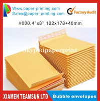 "Wholesale Bubble Envelopes Wholesale - Wholesale-130pcs #000 122 x 178mm 4''X8"" Kraft Bubble Envelope Mailers Padded Envelopes padding wrapping Bags shipping packing"