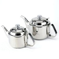 Wholesale Stainless Boiling Water - New 1400ml Coffee Kettle Induction Cooker Boil Water Kettle 304 Stainless Steel Tea Kettle with Strainer