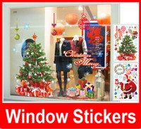 Wholesale Vinyl Wall Rings - New Removable Merry Christmas Xmas Decor Snowflakes Ring Art Vinyl Stickers Wall Windows Decal Decoration Wallpaper Free Shipping,dandys