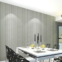 Normale Semplice goffrato Modern Classic All-over Wallpaper piccola banda gessato Per Letti beige, bianco, Silver Grey, Brown