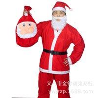 Wholesale Cheap Santa Claus Suits - Cheap adult clothing apparel red Santa Claus suit non-woven Christmas Christmas supplies wholesale clothing