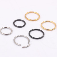 Wholesale Labret Hoop Jewelry - New Arrival Stainless Steel Nose Hoop Rings segment ring body jewelry for Women Men Unisex