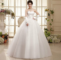 Wholesale Korean Fashion Wedding Gowns - Shanghai Story Newest Korean fashion waist double layer flower wedding dreesses tube top plus size Bridal dresses