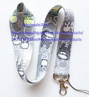nachbar totoro lanyard großhandel-Freies Verschiffen Los 10pcs / lot mein Nachbar Totoro Handyabzuglinie Schlüsselkettenbügel bezaubert Großverkauf