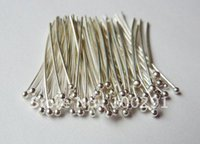 Wholesale Ball Headpins - Free ship!!!2000piece lot 20mm Silver plated Jewelry bead making findings ball head pins headpins