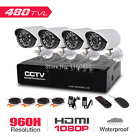 Wholesale Low Price Security Camera Systems - Free DHL Low Price 4CH CCTV DVR Kit (4pcs 480TVL Cameras,1pcs Mini DVR,500G hard disk) home security system surveillance kits