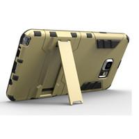 manzana de hierro al por mayor-Defender Iron Man A prueba de golpes PC TPU Iron Man Hybrid Armor Stand Funda para Samsung Galaxy S6 Edge J5 J7 Moto G G2 LG G4 Note Huawei P8