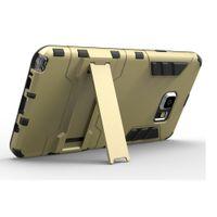 ingrosso caso del difensore s6-Difensore Iron Man Antiurto PC TPU Iron Man Hybrid Armatura Stand Custodia Cover per Samsung Galaxy S6 Bordo J5 J7 Moto G G2 LG G4 Nota Huawei P8
