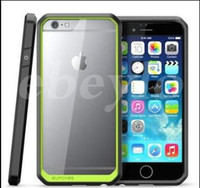 Wholesale Tpu Cases Wholesale Usa - 2015 new USA supcase Hybrid tpu Colorful Bumper Clear Transparent Hard pc back cover iPhone 6 6plus 6s samsung S6 edge plus Note5