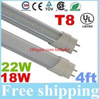natürliches weißes fluoreszierendes licht großhandel-4ft 1.2m 1200mm T8 führte Leuchtröhren 18W 22W Warm / Natural / Cool White LED Leuchtstoffröhre AC 110-240V