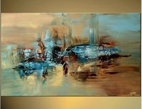 Wholesale Texture Wall Hand - Hand-painted Hi-Q modern wall art home decorative abstract oil painting on canvas scrawl texture