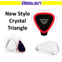 Wholesale qi wireless charger pad black - Bestsin triangle Qi Wireless Charger Pad Black and White for Samsung S7 Edge S8 Plus Iphone 8 Note 8 with retail package