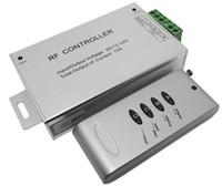 rf controlador led rgb 12v al por mayor-Controladores FEDEX Free DC 12-24V RGB Controlador remoto inalámbrico RF 4 teclas para RGB LED Strip Light