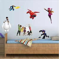 Big Hero 6 Adesivos de Parede Baymax Mural DIY Backdrop Quarto Sala de estar Poster TV Sofa Wallpaper Impermeável Wall Stickers Home Decor A458 500