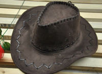 Wholesale Performance Retail - fashion fuax leather western cowboy hats,retail,sun hat,wholesale womens mens tourist caps for travel,men womens outdoor performance hat