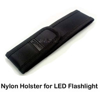 Wholesale Nylon Flashlight Holster Pouch - New Black Nylon Belt Holster Cover Pouch for UltraFire C8 E6 E17 A100 501B 502B LED Flashlight Torch 301 303 Laser Pen & DHL Free Delivery