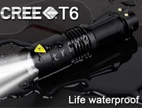 ganchos de ímãs brancos venda por atacado-Lanterna UltraFire CREE XML T6 Q5 LED Tático Portátil Mini Tocha Zoom 3 Modos de Bicicleta À Prova D 'Água luz de cabeça Lanternas Lâmpada