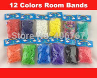 Envío libre al por mayor Loom Band Refill Bolsa de goma Loom gomas Kit Para Loom Pulseras 1000Bag / lot 1027 # 27