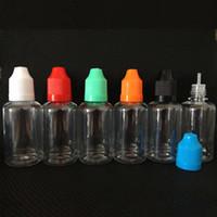 Wholesale E Liquid 15 Ml Bottles - PET Transparent e liquid bottle 10 ml with Childproof Cap empty Dropper Bottles e juice bottle Dropper Bottle ecig 5 10 15 20 30 50ml DHL fr