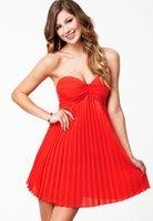 Wholesale Party Sexi Dress - Women Summer Sleeveless Orange Pleated Bandeau Padded Style Evening Party Dress LC21481saias curtas femininas vestidos club sexi FG1511