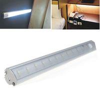 barra de luz en forma de v al por mayor-30 cm LED blanco barra de luz SMD 3528 LED debajo de la luz del gabinete PIR lámpara del sensor de movimiento para la cocina armario armario armario