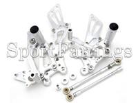 Wholesale Rearset Rear Set - Black Silver Adjustable CNC Billet Rearset Rear Set Footrest For Honda CBR600RR 03 04 05 06 CBR1000RR 04 05 06 07 Motorcycles