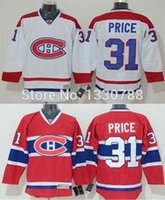 Wholesale Montreal Canadiens Cheap Hockey Jerseys - Factory Outlet, Men's Cheap Authentic Montreal Canadiens Carey Price Jersey Red Home White Away Stitched #31 Canadians Ice Hockey Jersey 201