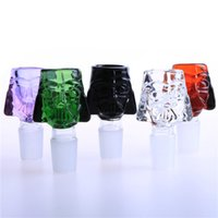 Wholesale Sinks Bowls - Soulton Glass 2016 Glass Bowl 14mm 18mm Star Wars Darth Vader Sink Glass Bowls for Bongs Water Pipe BW-039