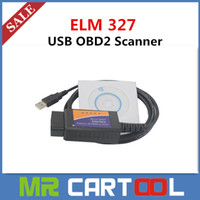 Wholesale Obdii Can Code Scanner - 2015 Top Quality ELM327 USB Elm 327 V1.5 USB Interface OBDII CAN-BUS Scanner Free shipping