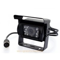 Wholesale 12v Night Vision Car Cameras - 12V Ccd Ir Night Vision Reverse Backup Car Camera For Vehicle Anti-Shock 4Pin