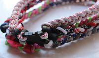 Wholesale Ge Titanium Necklaces - tornado Germanium & titanium necklace Fashion and health ( GE ) 3 ropes tornado braided titanium Necklace Bracelet 100pcs lot