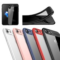 Transparente Soft TPU Hard Clear PC Phone Back Case Capa à prova de choque para iPhone X 8 7 6S 6 Plus