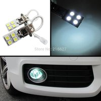 H3 h1 8/12 led 5050 SMD LED Car Driving Fog Head Light Lampe Lampe Pure White Nouveau