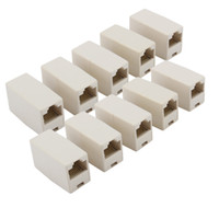 extensor cat rj45 al por mayor-Alta calidad de red Ethernet Lan Cable Joiner acoplador conector RJ45 CAT 5 5E Extender Plug envío gratis