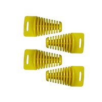 Wholesale Catalytic Converters Wholesale - Free shipping 4pcs Small YELLOW ZXTD Exhaust tube plug