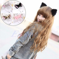 ingrosso capelli lunghi anime cosplay-New Cute Cat Fox orecchio lungo pelliccia di capelli fasce per Gilrs Anime Cosplay Costume Party prop accessori per capelli