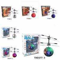 Wholesale other buildings - 6 Styles Air RC Flying Ball Drone Helicopter Ball Built-in Shinning LED Lighting for Kids Colorful Flying Helicopter Toy CCA7960 30pcs