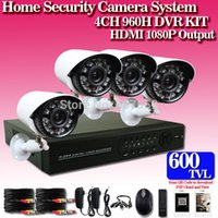 Novo ! Câmara de 600TVL CCTV 4CH Sistema de Segurança 4CH DVR Outdoor Dia Noite IR Camera Kit DIY Color Video Surveillance System
