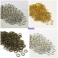 Wholesale Split Jump - 5000pcs set Antique Bronze Silver Mixed Bright Gold Silver Jump Rings Split Rings Jewelry Findings Jewelry DIY 4mm