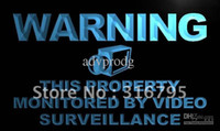 Wholesale Video Sign - m782-b Warning This Property Monitors Video Neon Sign